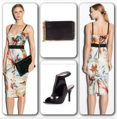 Unleash Your Inner Parrot ;) Today's inspiration is colorful prints. I love Milly and her designs and prints are perfect for Spring. I chose this #Milly Parrot Print Bustier Strap Dress and paired it with a #JeffreyCampbell Lorah High Vamp Sandal and #StellaMcCartney Falabella clutch. #farfetch #NeimanMarcus #parrotinspiration #springfashion #sandals #dress #clutch #edgychic #elegant #chic #classy #luxury #itgirl #streetstyle #instadaily #instagood #instafollow