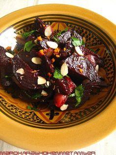Bij de categorie salades staat al een recept van rodebieten salade, maar hier…