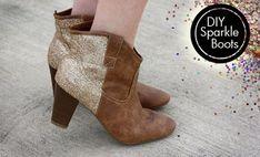 Customizar botines y zapatos con glitter o purpurina http://ropadiy.com/customizar-zapatos/customizar-botines-y-zapatos-con-glitter-o-purpurina/