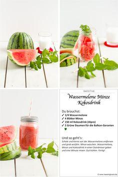 Smoothie Wassermelone, Minze, Kokosnuss // Smoothie Watermelon, Peppermint, Coconut