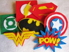 Felt Superhero Super Hair Clip SALE by TheWannaBeCrafter on Etsy, $3.25