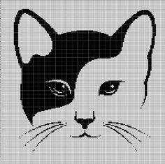CAT HEAD CROCHET AFGHAN PATTERN GRAPH