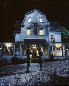 Visit a haunted house. Most Haunted Places to Visit Around the Globe (pictured: Amityville House, NY) Most Haunted Places, Spooky Places, Horror Posters, Horror Films, Movie Posters, The Amityville Horror House, Ghost Hauntings, Spooky House, Ghost Stories