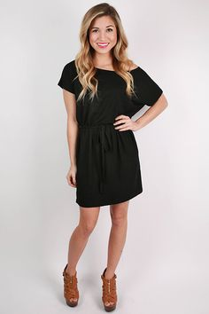 PIKO Relaxed Fit Dress in Black