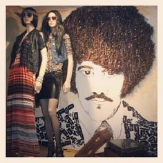 #visualmerchandising #display #collegeassignment #foundobject #foundobjectart #phillynott #thinlizzy #cassettetapes #1970s #styling #mannequin