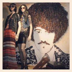 #visualmerchandising #display #collegeassignment #foundobject #foundobjectart #phillynott #thinlizzy #cassettetapes #1970s #styling #mannequin