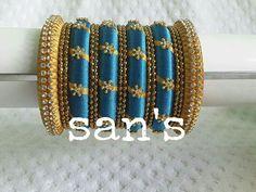 Silk Thread Jhumkas, Silk Thread Bangles Design, Silk Bangles, Silk Thread Earrings, Thread Jewellery, Body Jewellery, Indian Bangles, Jewellery Earrings, Beaded Necklace Patterns