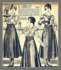 1916 Sears catalog, skirts, all I could salvage of the pag… | Flickr