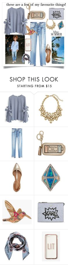 """""""These are a few of my favourite things!"""" by jennyharris168 ❤ liked on Polyvore featuring Chicwish, Oscar de la Renta, Frame, Anya Hindmarch, Calvin Klein, Noor Fares, Chico's, Karl Lagerfeld, Valentino and Missguided"""