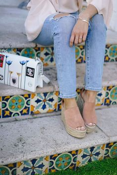 Chloe Espadrille Wedge Sandals
