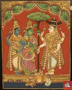 Mysore Painting, Kerala Mural Painting, Tanjore Painting, Phad Painting, Indian Traditional Paintings, Indian Artwork, Indian Wedding Invitations, Outline Drawings, Hindu Art