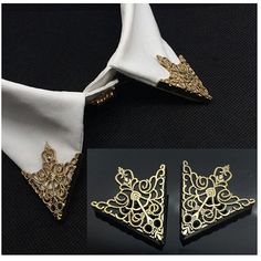 gothic victorian collar tips Lestat - Diy Jewelry Vintage Vintage Shirts, Retro Shirts, Vintage Outfits, Victorian Collar, Studded Shirt, Collar Tips, Fashion Accessories, Fashion Jewelry, Jewelry Accessories