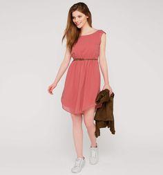 Frontimage view Lichte jurk in roze