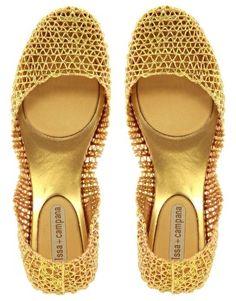 Melissa Papel Glitter Flat Shoe