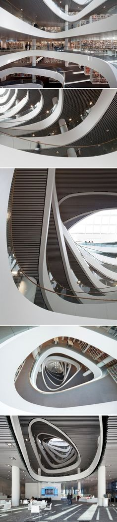 Library of the University of Aberdeen in Scotland designed by SCHMIDT HAMMER Lassen Architects.