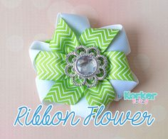 how to make a folded ribbon flower