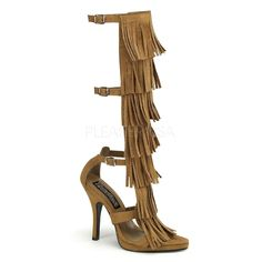 """Halloween is just around the corner get this great boot for your Native American Themed Costume!   4 1/2"""" Heel, 1/2"""" Platform Indian 3 Buckle Strap K/H Sandal."""
