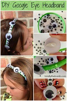 DIY Google Eye Headband from TotallyTheBomb How To Make Your Own Google Eye Headband