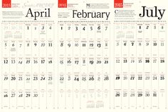 A Wall Calendar Showcasing The History of a Typeface Every Month