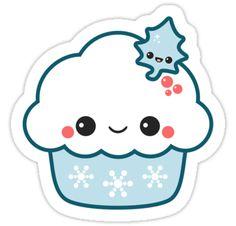Snowflake Cupcake by sugarhai