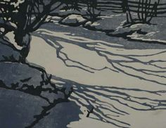 William Rice, woodcut Contemporary Printmaking, But Is It Art, Collage Illustration, Shadow Play, Amazing Paintings, Lino Cuts, Wood Engraving, Linocut Prints, Winter Scenes