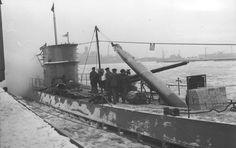 Loading torpedoes on a U-Boat, Wilhelmshaven Germany, December 22 1939.