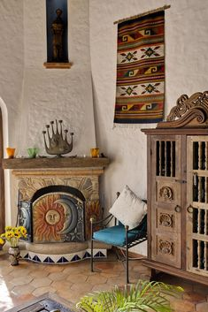 Spanish style homes – Mediterranean Home Decor Southwestern Home, Southwest Decor, Southwestern Decorating, Southwest Style, Southwestern Fireplaces, Mexican Style Homes, Mexican Home Decor, Spanish Style Homes, Spanish Colonial