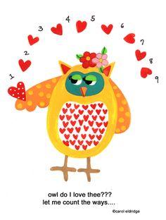 'Owl Do I Love Thee?' by Carol Eldridge