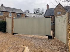 Our Brentwood Driveway gate with a painted finish. Fitted with a #BFT underground automation and intercom system. Kerb Appeal, Side Gates, Electric Gates, Driveway Gate, Intercom, Flat Head, Fence Panels, Mortise And Tenon, Cladding