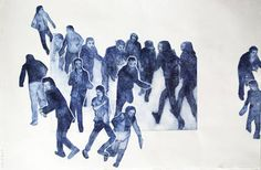 "Saatchi Art Artist Myriam Dib; Printmaking, ""Sauve-qui-peut"" #art"