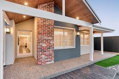 Exterior Wall Cladding, Brick Cladding, House Cladding, Brick Facade, House Roof, Facade House, Gable House, Coastal House Plans, New House Plans