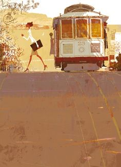 What a Beautiful day! #tram / Che bella giornata! - Illust: Tadahiro Uesugi