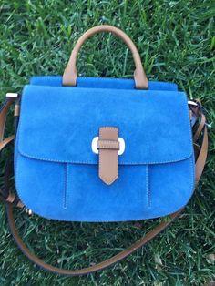 Michael Kors Messenger Denim Romy Medium Blue Suede Bag NWT $378.00 #MichaelKors #MessengerCrossBody