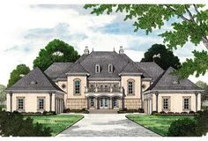 House Plan 96913 | European Luxury Plan with 8126 Sq. Ft., 5 Bedrooms, 7 Bathrooms, 4 Car Garage at family home plans