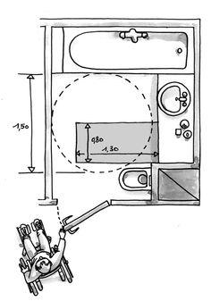 lavabo pmr salle de bains design | handicape adapté | pinterest ... - Plan Salle De Bain Handicape