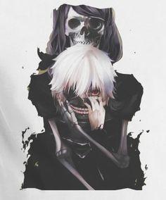 Tokyo Ghoul Kaneki Skull Mask T-Shirt Tee