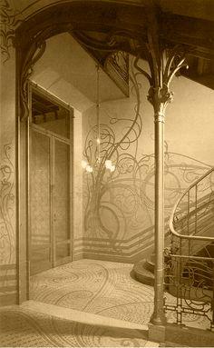 Victor Horta (Belgian, 1861-1947) Hôtel Tassel, 1893-94 6, Rue Paul-Emile Jansonstraat, Brussels