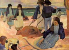 eugène henri paul gauguin(1848-1903), seaweed gatherers, 1889. oil on canvas. museum folkwang, essen, germany http://www.the-athenaeum.org/art/detail.php?ID=2078