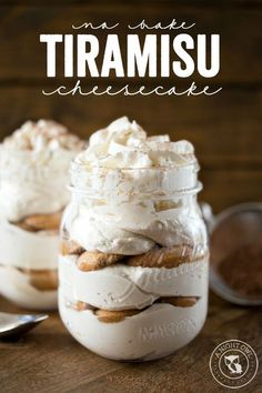 No Bake Tiramisu Cheesecake - a delicious and easy dessert you can make in just minutes!