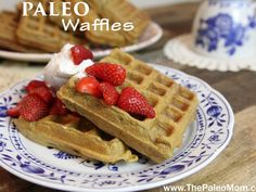 Not only are these waffles completely Paleo, but they avoid many of the pit-falls of Paleo adaptations of grain-based foods. Paleo Waffles, Pancakes And Waffles, Paleo Bread, Paleo Baking, Paleo Breakfast, Breakfast Recipes, Breakfast Pancakes, Free Breakfast, Breakfast Ideas