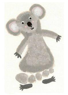 Little Inspirations: Letter K Week footprint koala