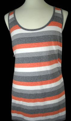 e47707349943c6 Mossimo Suppy Co Men s Tank Top Shirt Red Rugby Striped NWT New Size XXL   MossimoSuppyCo  TankTop