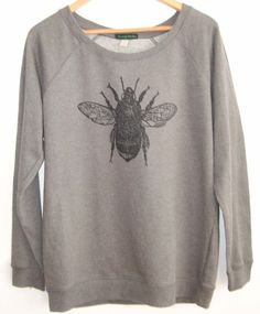 Bumblebee printed Womens dark heather grey by scenerylondon