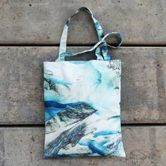 Ice cave High Quality Canvas tote bag by MoriStore on Etsy