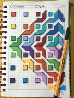 Graph Paper Drawings, Graph Paper Art, Easy Drawings, Cross Stitch Patterns, Quilt Patterns, Dibujos Zentangle Art, Drawing Competition, Create This Book, Pixel Pattern
