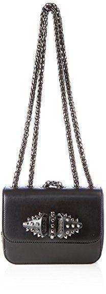 Christian Louboutin Damen Borsa Sweet Charyty Bag Umhängetasche, Schwarz (Black/Gun Metal), 6x15x19 cm