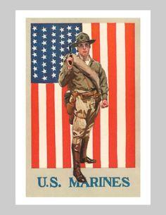 vintage marine poster