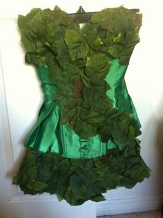 Homemade poison ivy our finished costume (my cousin Ashley did an amazing job)