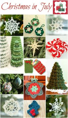 Christmas in July!! Crochet up a bunch of these holiday classics and get a jump on your Christmas decorations and gifts! #crochet #Christmas