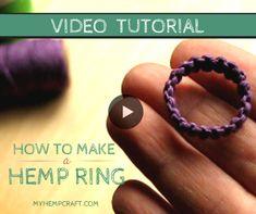 Macrame Hemp Ring Tutorial
